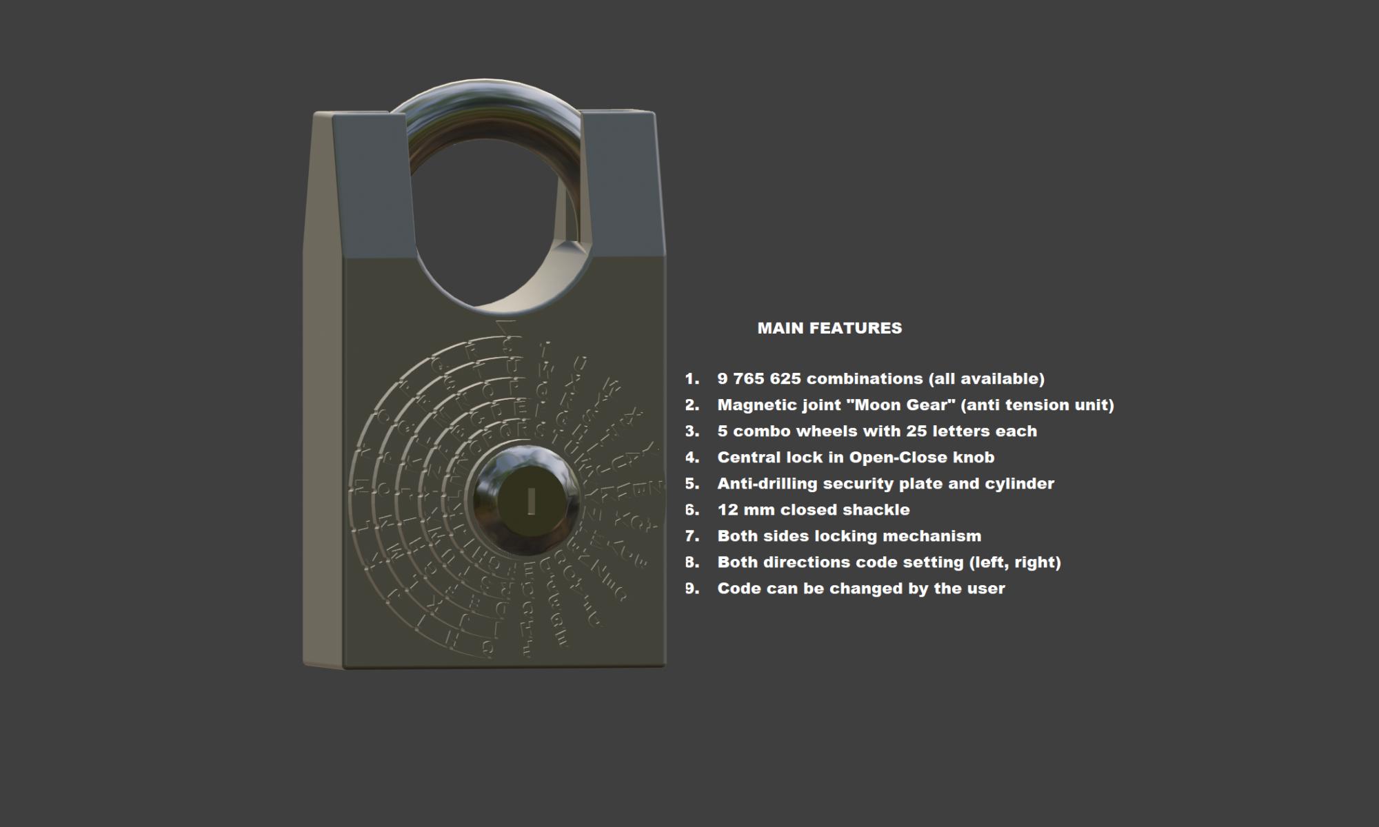 Polish Combination Lock