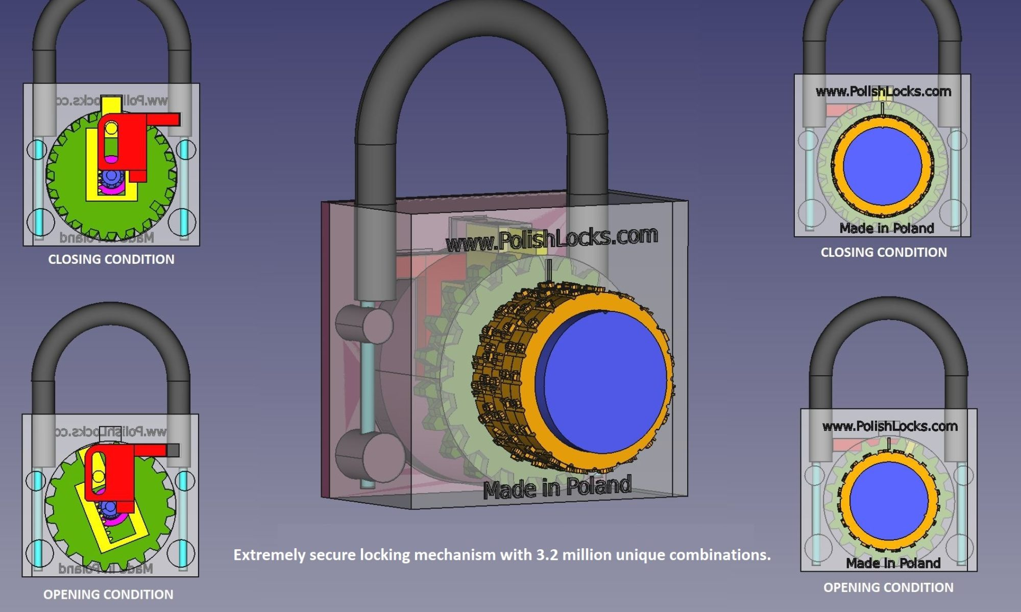 Polish Combination Lock