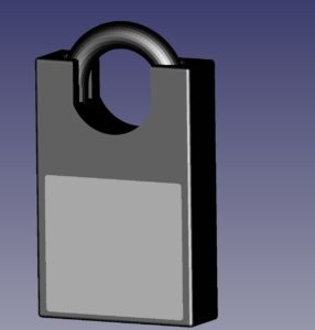 Combination Lock Back